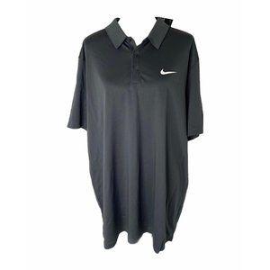 ~Mens XXL Nike Dri-fit black activewear golf shirt